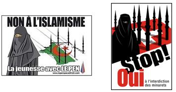 L'affiche du Front National et L'affiche de la campagne suisse