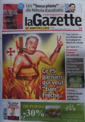La couverture de la Gazette de Montpellier ( Edition du 4 au 10 février)