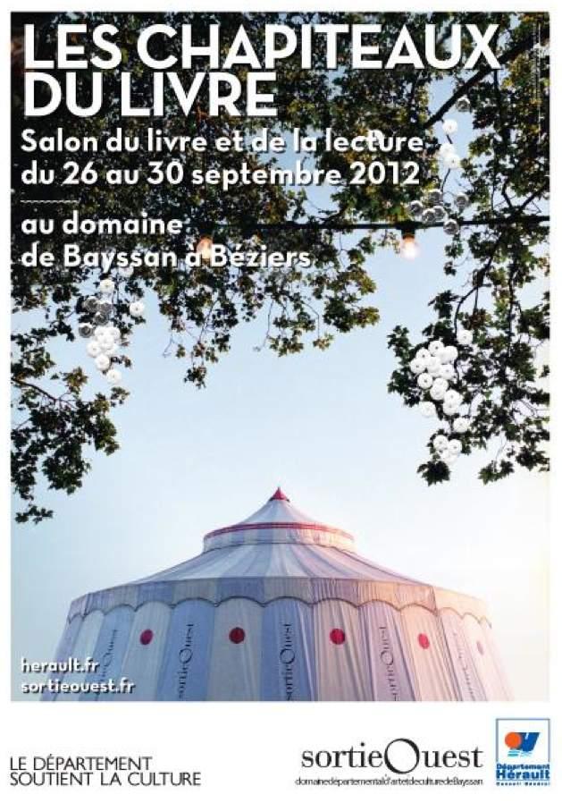 Chapiteaux du livre - Domaine de Bayssan - Béziers - Sortie Ouest