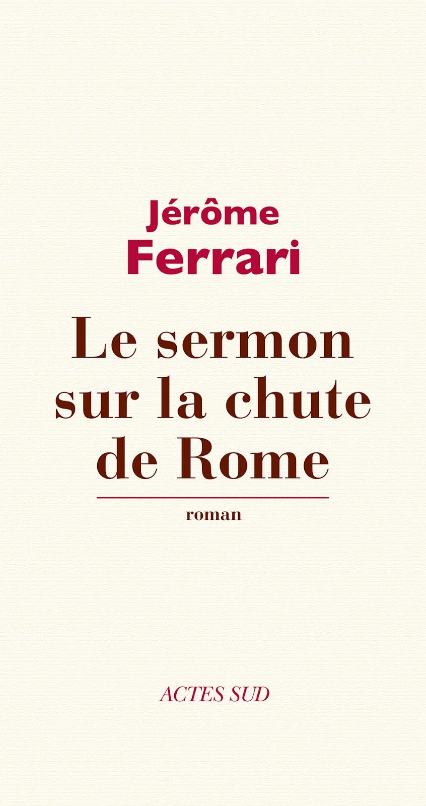 Le sermon de la chute de Rome