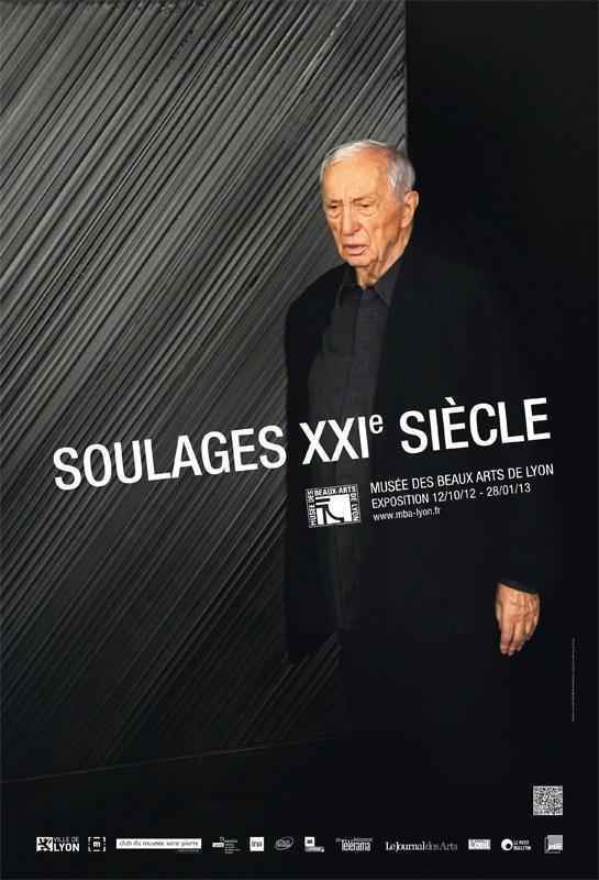 Pierre Soulages : XXI siècle à Lyon - Exposition Soulages