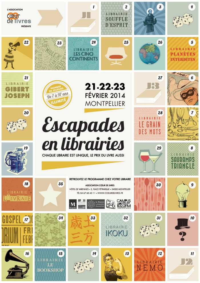 Escapades en librairies 2014 Montpellier