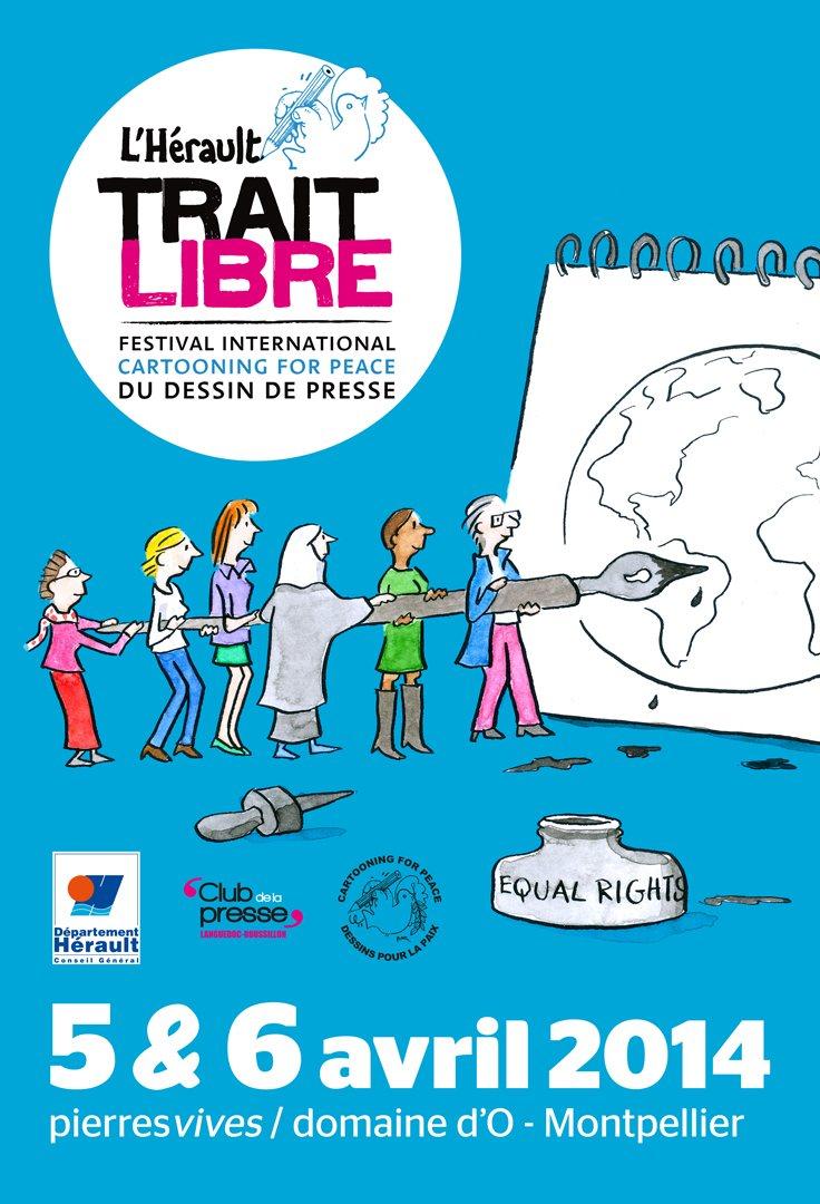 Festival Hérault Trait Libre Dessin de presse 2014 - Pierresvives - Domaine d'O - Plantu