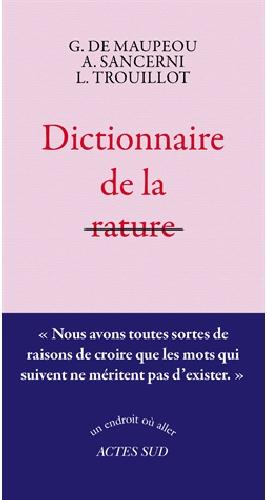 Dictionnaire de rature - Actes Sud