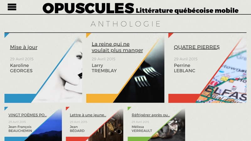 Opuscules - Application Mobile