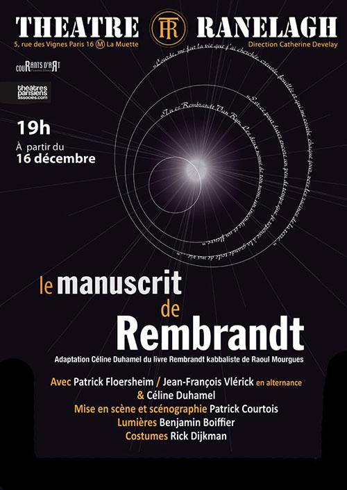 Le manuscrit de Rembrandt - Théâtre Ranelagh