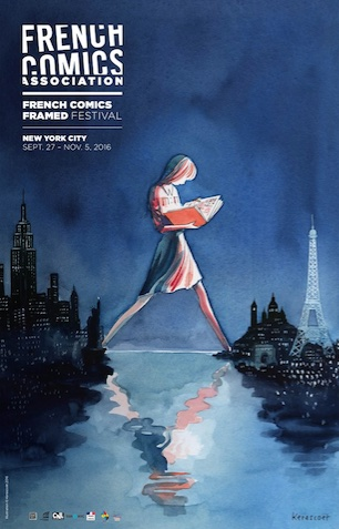 French Comics Framed
