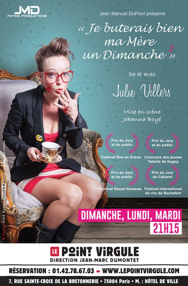 Julie Villers - Spectacle Point Virgule