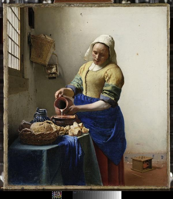 20_Johannes Vermeer, La Laitière, vers 1658-1659. Huile sur toile. 45,5 x 41 cm. Amsterdam, Rijksmuseum © Amsterdam, The Rijksmuseum