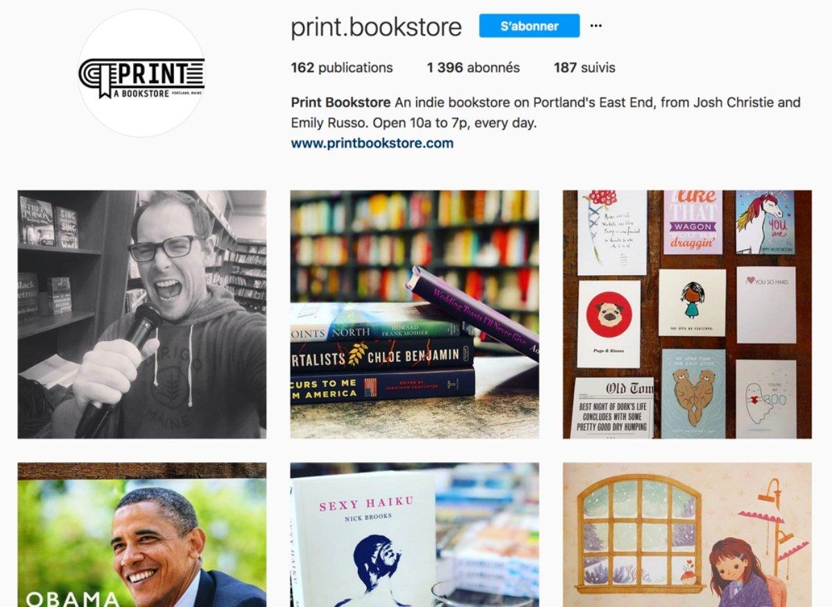 Le compte Instagram de la librairie de Richard Russo à Portland